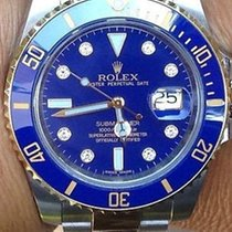 Rolex Submariner 116613 -lb Ceramic Bezel Factory Diamond Dial...