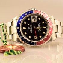 Ρολεξ (Rolex) GMT MASTER II Stahl 16710 Pepsi Box &...