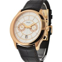 Piaget NEW Gouverneur Automatic Silver Dial Brown Leather