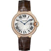 Cartier Ballon Bleu 40mm WE902055 18kt Rose Gold Diamond Bezel...