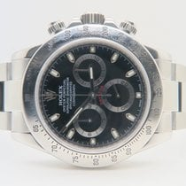 Rolex Daytona Black Dial 40mm Ref. 116520 Full Set (Box&Pa...