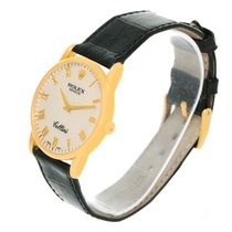 Rolex Cellini Classic 18k Yellow Gold Ivory Jubilee Dial Watch...