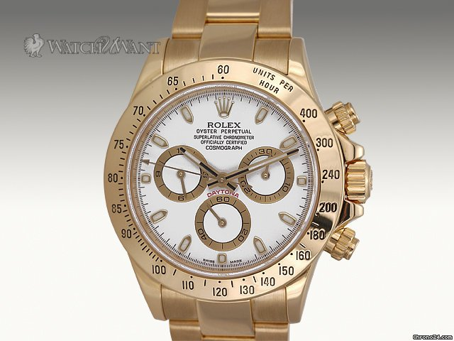 Rolex Cosmograph Daytona Chronograph - Ref 116528 - 40mm 18k Yellow Gold Case & 18k Yellow Gold Bracelet - Collector-New