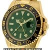 Rolex GMT-Master II 18k Yellow Gold Green Dial 116718