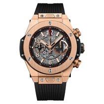 Hublot Big Bang 45 mm Mens 18K Yellow Gold Automatic Watch...