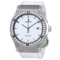 Hublot Classic Fusion White Mat Dial Automatic Ladies Diamond...