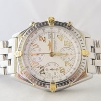 Breitling Chronograph 18k Gold Steel/ Papers/ Box