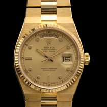 Rolex day date oyster quartz ref 19018 yellow gold new old stock