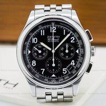 Zenith 02.0501.400 Class El Primero Chronograph Black Dial SS...