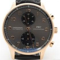 IWC Portuguese 3714 Slate Panda Dial 18k Rose Gold Chronograph...