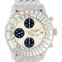 Breitling Navitimer Fighter Chronograph Silver Dial Steel...
