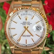 Rolex Mens President Day Date 36mm 18238 18k Yellow Box Papers...