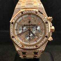 Audemars Piguet Royal Oak  Chronograph Rose Gold Full Pavé...