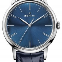 Zenith Elite 6510 Stainless Steel Blue Dial 42mm Watch