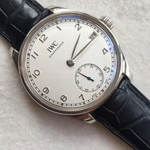 IWC Portugieser Hand Wound Eight Days Silver Dial Hand Wind