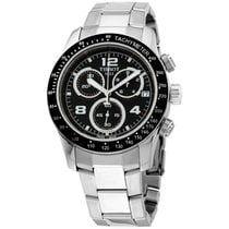 Tissot V8 Chronograph Black Dial Men's Watch T0394171105702