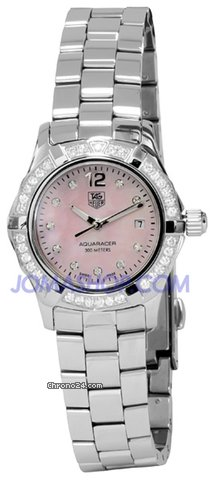 TAG Heuer Aquaracer MOP Diamond Ladies Watch WAF141B.BA0824