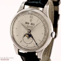 Rolex Vintage Padellone Moon-Phase Calendar Ref-8171 Stainless...