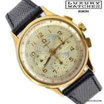 Omega Cronografo oro giallo calibro Lemania pre 321 1940's