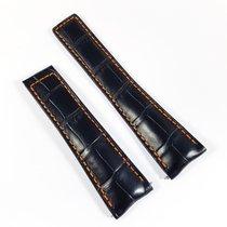 TAG Heuer Carrera Alligator leather strap 22mm black orange...