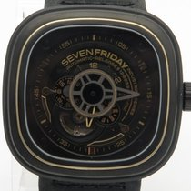 Sevenfriday Industrial Works P2-02 Automatic Black Leather...