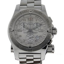 Breitling Emergency Mission Stainless Steel Silver Dial On...
