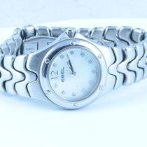 Ebel Sportwave Damen Uhr 28mm Stahl/stahl Klassische Uhr...