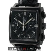 TAG Heuer Monaco Chronograph DLC Coated 38mm Black Dial Ref....