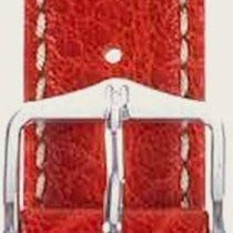 Hirsch Uhrenarmband Leder Jumper rot L 04402020-2-20 20mm