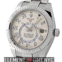 Rolex Sky-Dweller 18k White Gold On Bracelet Ivory Dial Ref....