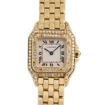 Cartier Ladies Panthere in 18k Yellow Gold with Diamond Bezel