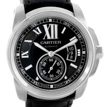 Cartier Calibre Steel Automatic Black Dial Mens Watch W7100041