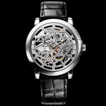 Harry Winston NEW] Midnight Skeleton automatic 18K white gold...