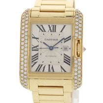 Cartier Tank Anglaise WT100006 / 3509 18k YG & Diamonds