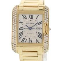 Cartier Tank Anglaise WT100006 / 3509 18k YG & Diamonds