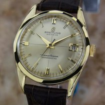 Breitling Trans Ocean Rare 1960 18k Solid Gold Chronometer...