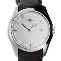Tissot watch Couturier Quartz white dial, leather strap