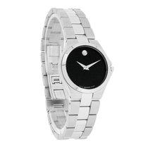 Movado Exclusive Ladies Black Museum Dress Swiss Quartz Watch...