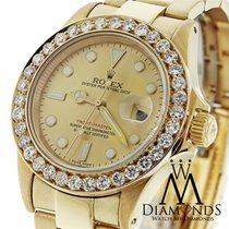 Rolex Diamond Rolex Yacht-master 16628 18k Yellow Gold...