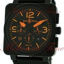 """Bell & Ross BR01-94 """"Orange"""", Chronograph, Black..."""