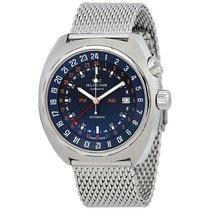 Glycine Airman STT 12 Blue Dial Automatic Men's Mesh Watch