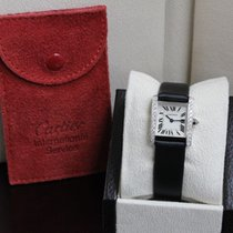 Cartier Tank Française 2403 18K White Gold Factory Diamond Bezel
