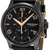 Montblanc Timewalker Black Steel Chronograph Mens Watch...