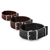 ABP Paris Nato calf alligator leather straps bands 18mm 20mm...