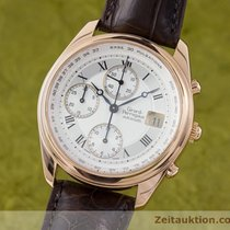 Girard Perregaux 18k Rosé Gold Gp 4900 Olimpico Chronograph...
