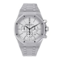 Audemars Piguet AP Royal Oak Chronograph 41mm Steel White Dial