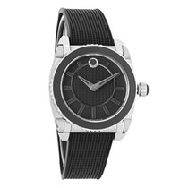 Movado Master Series Ladies Stainless Steel Swiss Quartz Watch...