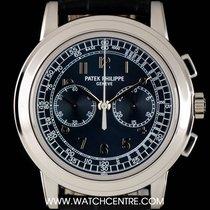 Patek Philippe Platinum Blue Arabic Dial Chronograph B&P...