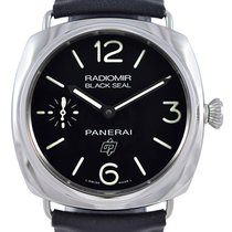 Panerai PAM00380 Radiomir Black Seal Logo Acciaio 45MM Men...