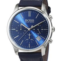 Hugo Boss Time One Chronograph Steel Mens Strap Watch Blue...